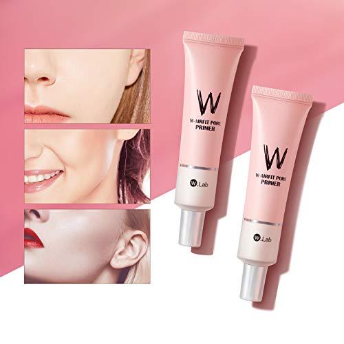 Mimore Base de maquillage pour le visage Fond de teint professionnel crème de couverture correcteur Pores minimisés teint uniforme crème d'isolation rose pores invisibles peau lisse (1)