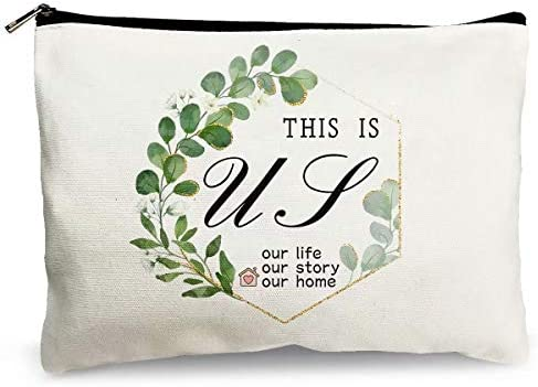 Makeup Cosmetic Bags for Women This Is Us Our Life Our Story Our Home Funny Travel Bags Cotton product image