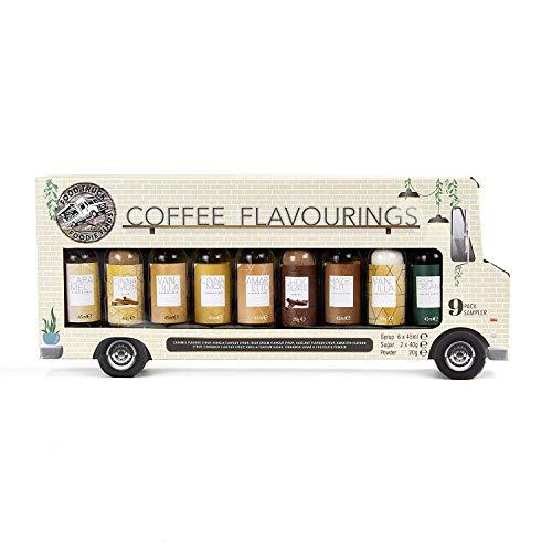 Modern Gourmet Foods - Kaffee-Sirup Set Mit 9 Kaffee-Aromen à 40-45 ml - Geschenkset für Kaffee-Liebhaber