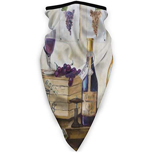 BaoBei-shop Sportmaske Holzflasche Weintraube Gesichtsmaske BandanasBalaclava Halstuch Fan Masken Winddichte SkifischmaskenHeadwear
