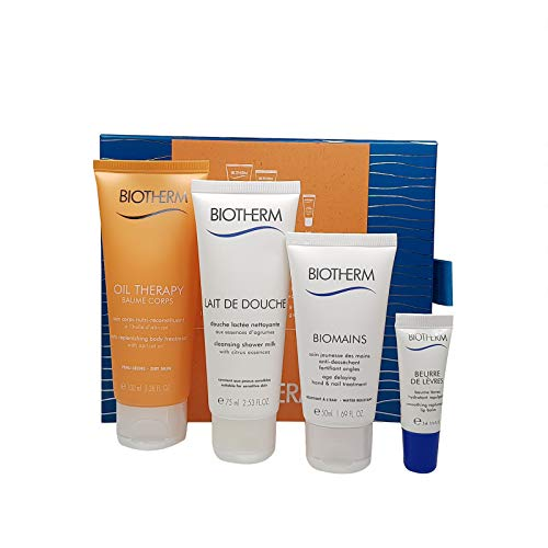 Biotherm Oil Therapy Baume Corps 100 ml Bodylotion 75 ml Handcreme 50 ml Lippen Balsam 5 ml