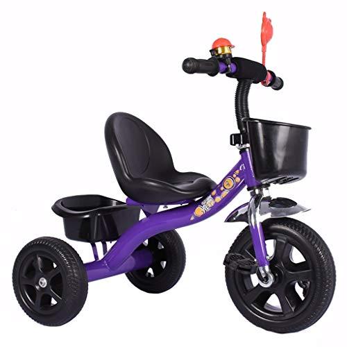 WENJIE Bicicleta for Niños Triciclo De Bebé Cochecito for Niños De 1-3-6 Años. Carro De Bebé Multifunción como Regalo De Cumpleaños (Color : Purple)