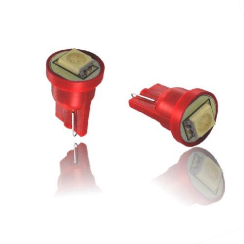 T10SR - Rouge SMD LED lampe ampoule de rechange feux de position W5W T10 12V éclairage de plaque d'immatriculation éclairage intérieur avec 5050 SMD