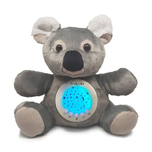 Trekoala ruidos blancos para bébé – sensor cry-baby – carga USB – carillón – proyector LED de estrellas – regalo para bébé – luz nocturna – peluche musical- cama de niño – cuna