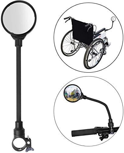 SOULBEST Fahrradspiegel Rückspiegel - 1 Stück Rückspiegel Fahrradspiegel 360°Drehung Verstellbar für MTB Fahrrad Motorrad E-Bike Rollstuhl (Runden)