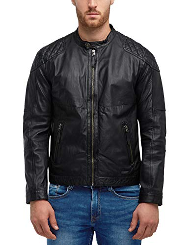 MUSTANG Herren Regular Fit Lederjacke