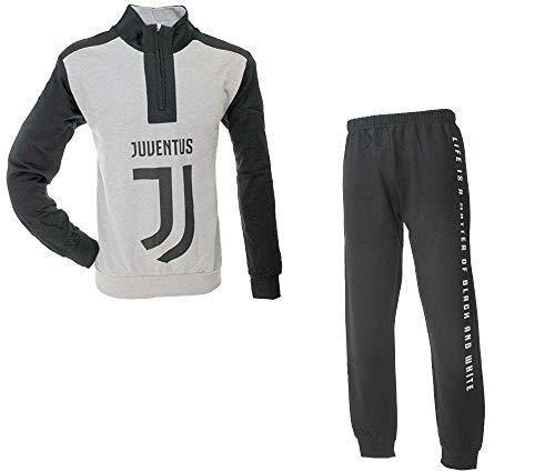 Pigiama/Tuta Uomo Juventus con Zip (S/46, Grigio Melange)