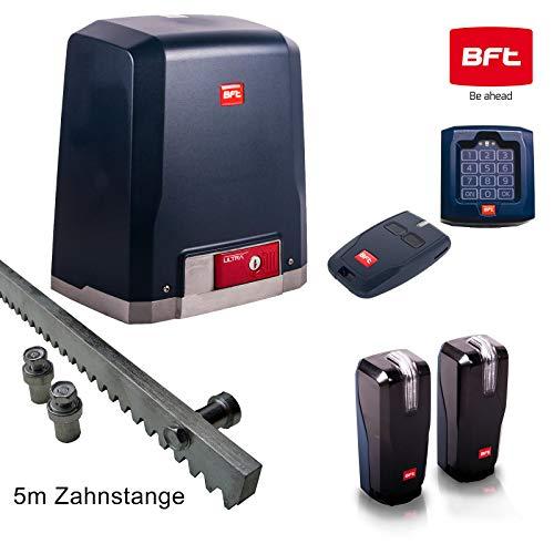 BFT Schiebetorantrieb DEIMOS-Ultra-Kit 600 inkl. Codeschloss, Handsender, Lichtschranke mit integrierter Warnleuchte und 5m Zahnstange