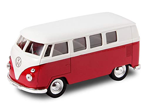 Welly VW Bulli Bus 1963 T1 Modellauto 12 cm Classical Bus Modell Bully, Variante wählen:56/0041 VW Bus T1 rot