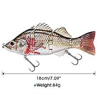 釣りルアー4セグメントリアルな釣りハードベイト21g 64g 84gクランクベイト釣りルアーワブラークランクベイトペスカジグ YFYUER (Color : 84g black n white)