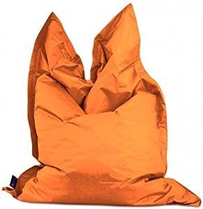Kawin Sessel Relaxsessel Sitzsack 140* 200Kissen Matratze–Orange