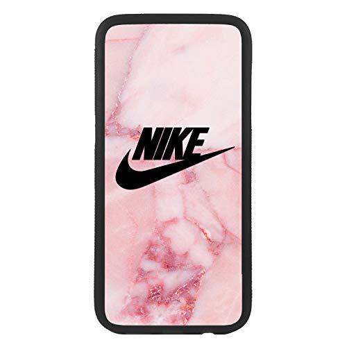 Funda Carcasa de móvil para Apple iPhone 7 Plus Logotipo Nike marmol Rosa Logo TPU Borde Negro