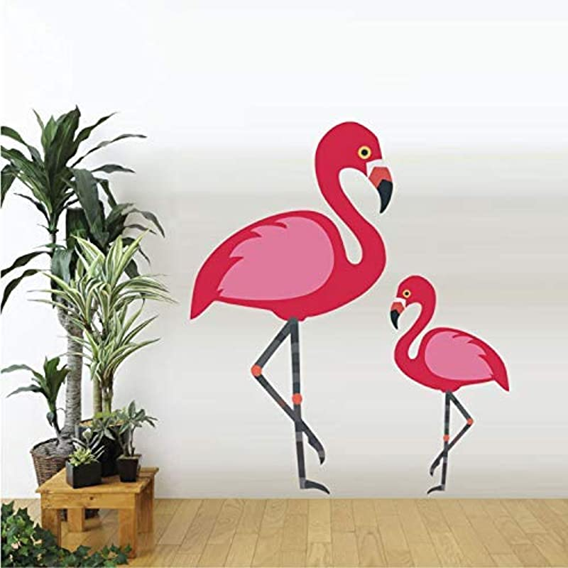 RONGAN Flamingo Animals Wall Stickers Girls Nursery Room Decals Living Room Art Murals Removable Vinyl Wallpaper Home Decor