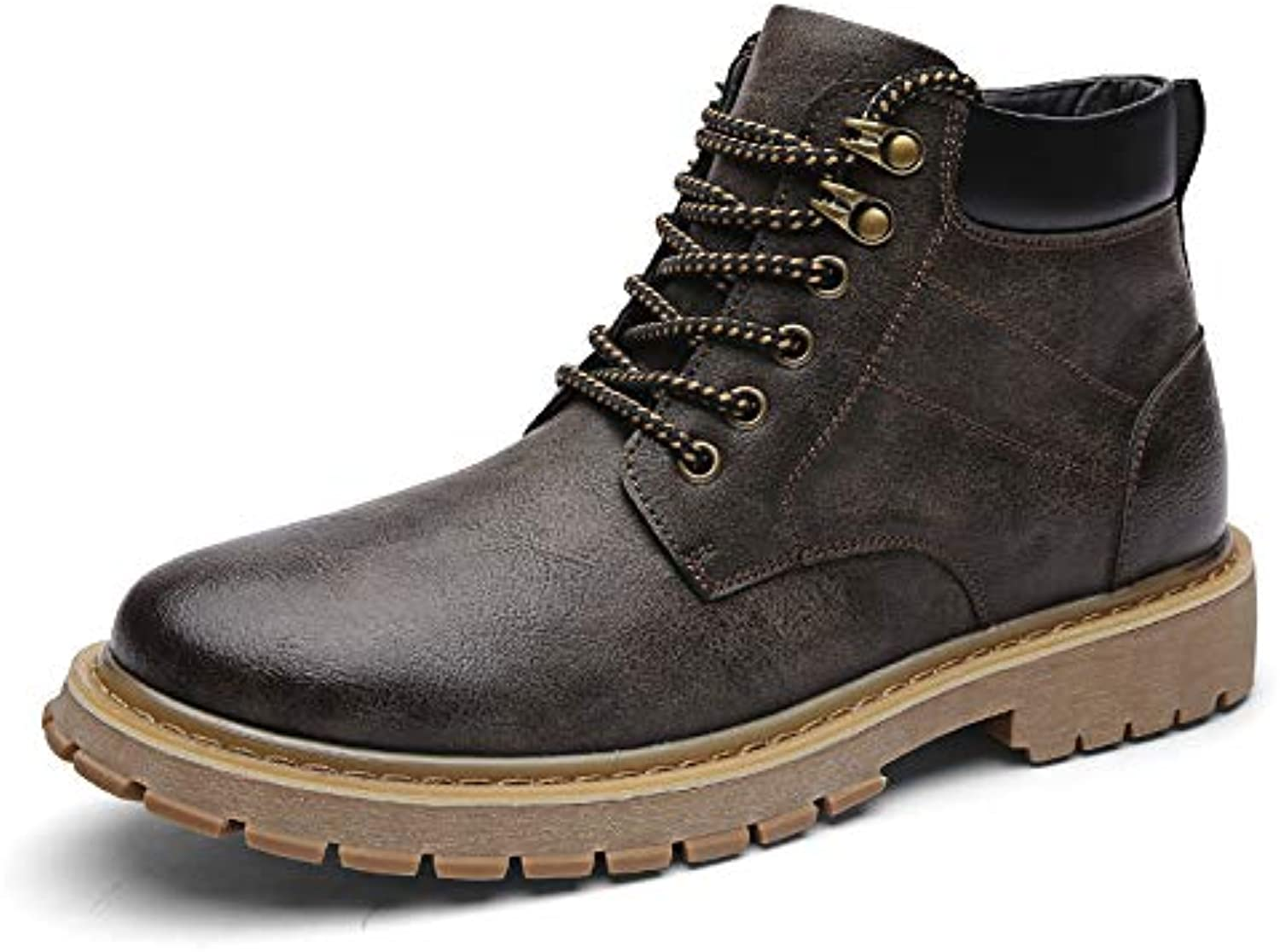 LOVDRAM Boots Men's Martin Boots Men'S Pu High Men'S shoes Tooling shoes Military Boots Casual shoes Wild Outdoor Desert Boots