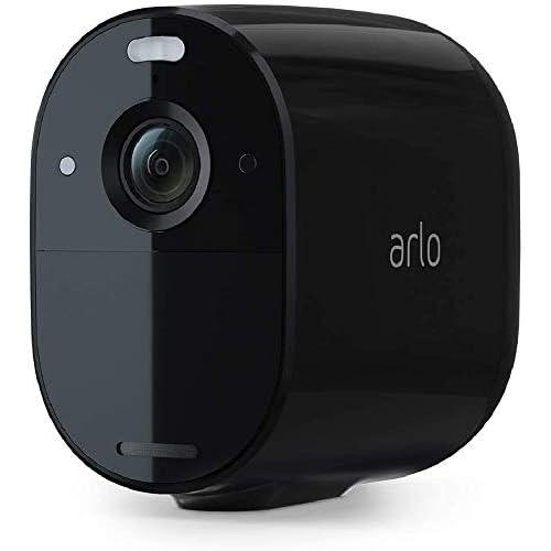 Arlo Essential Spotlight, Telecamera di videosorveglianza WiFi senza fili, Faro e Sirena integrati, Visione Notturna a Colori, 1080p, Audio 2 vie, Interno ed Esterno, non richiede Base Arlo, Nero