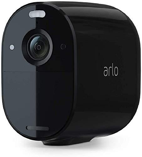 Arlo Essential Spotlight, Telecamera sorveglianza WiFi senza fili, Faro e Sirena integrati, Visione Notturna a Colori, 1080p, Audio 2 vie, Interno Esterno, non richiede Base Arlo, Nero, VMC2030B