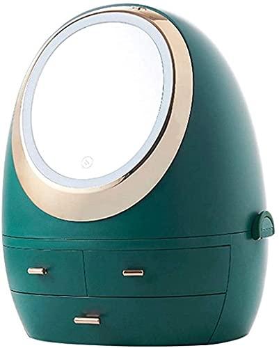 J&X Diosa Creative New Skin Care Cosmetics Caja de Almacenamiento Dormitorio Artifact Storage Rack Escritorio a Prueba de Polvo (Style : Blue)