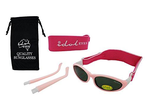 Baby Wrapz Modulare 2Cabrio Sonnenbrille 0–5Jahren mit 2Kopfbändern und abnehmbaren Armen (Light Pink)