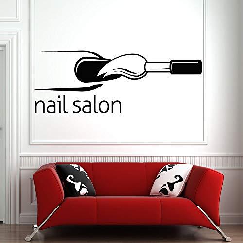 Applique Schönheitssalon bieten Wand- und Fensteraufkleber Dekoration Nagellack Vinyl Aufkleber Muster Wandaufkleber 57 * 22cm