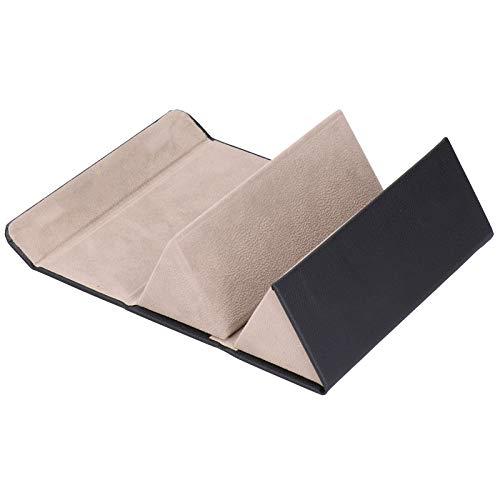 Omabeta Diseño Colgante Resistente y Duradero pequeño y Delicado Organizador de Gafas de Sol Estuche de Almacenamiento de Gafas de Sol Estuche de exhibición de Gafas de diseño Plegable(Black)