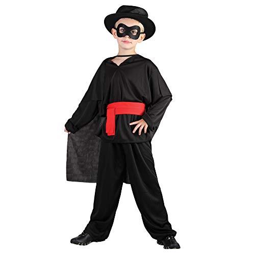 Bristol Novelty CC350 Costume Bandit Enfant 9-12 Ans Noir