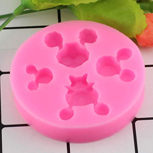 HUIZHANG Mickey Minnie Mouse Cartoon Silikonformen Fondant Chocolate Gumpaste Mold Cake Dekorationsformen Küche Backform