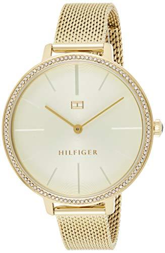 Tommy Hilfiger Damen Analoger Quarz Uhr mit Edelstahl Armband 1782114