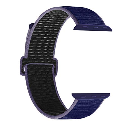 SUPERSTA für Apple Watch Armband 38mm 40mm 42mm 44mm,Gewobenes Nylon Sport Schlaufe Handgelenk Uhrband Ersatz Armreif Uhrenarmband für iWatch Apple Watch Series 4 3 2 1