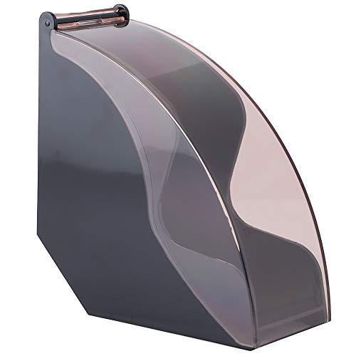 Kaffeefilterhalter, Filterpapier-Aufbewahrungsregal, Holz-Kaffeepapier-Aufbewahrungsregal, staubdichtes, feuchtigkeitsbeständiges Acrylglas Windschutz für Kaffee im Home Office