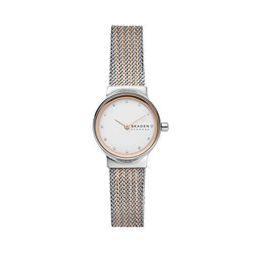 Skagen Women's Freja Quartz Watch with Stainless Steel Strap, Multicolor, 14 (Model: SKW2699)