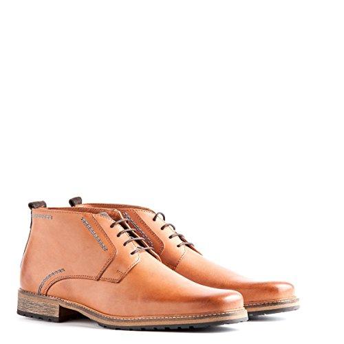 Travelin' London Leder Chukka Boots - Business Schuhe mit Schnürsenkel - Cognac EU 46