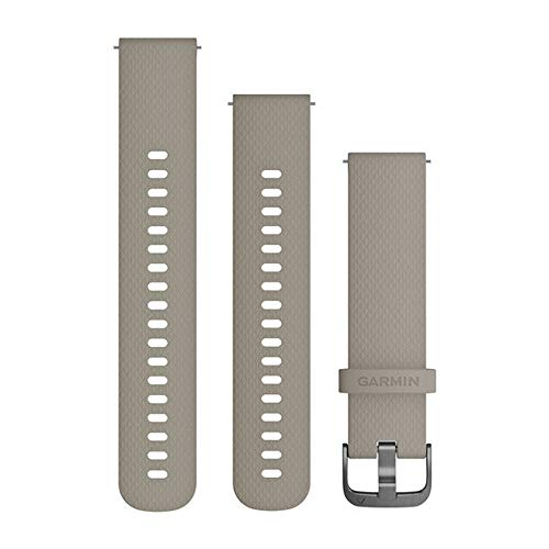 Garmin Quick Release Accessory Band 20 mm- Light Brown Leather S/M, Sandstone Slate (010-12691-09)