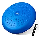 Trideer Core Balance Disc-Home Exercise Wobble Cushion(Free Guide), Office Desk Chair, Wiggle Seat for Therapy(Exercise & Fitness & Rehabitation) (Matte Blue)
