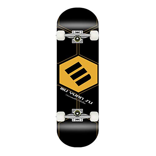 Complete Skateboard, Double Kick-Trick-Board mit ABEC-7 Lager 8-Schicht Maple Deck for Erwachsene, Kinder und Jugendliche, Multiple Designs (Color : Pattern 1)