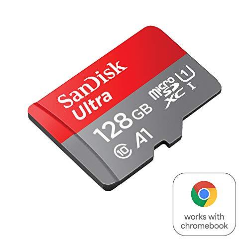 SanDisk Ultra 128GB microSDXC Speicherkarte + Adapter bis zu 100 MB/Sek., Class 10, U1, A1, FFP