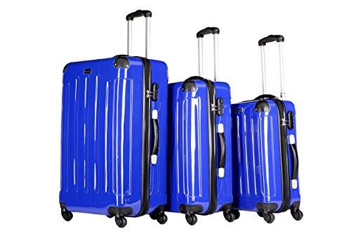 Packenger Koffer 3er-Set, M/L/XL, Blau