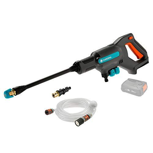 Gardena 14800-55 Limpiador de presión media AquaClean 24/18 V P4A solo, Gris antracita turquesa naranja, 24 bar