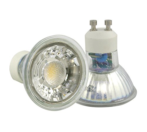1 x Power LED COB Leuchtmittel 5 Watt GU10 230V warmweiß, entspr. 50 Watt Halogen Leuchtstärke