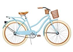 commercial Women's Cruise Bike Huffy 26″ Nel Lusso(women、glossy blue)(glossy blue、women) 7 speed beach cruiser