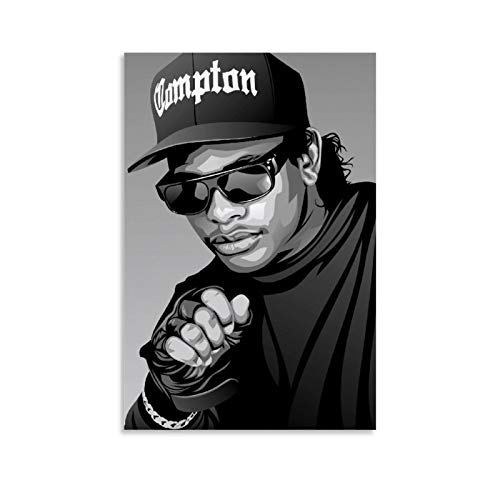 Eazy-E Hip Hop Rapper Canvas Art Poster and Wall Art Picture Print Modern Family Bedroom Decor Posters 20x30inch(50x75cm)