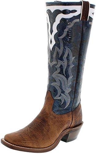 FB Fashion Boots Boulet Herren Cowboy Stiefel 6335 Bison Westernreitstiefel Buckaroo Stiefel Westernstiefel Longshafter Braun 44 EU