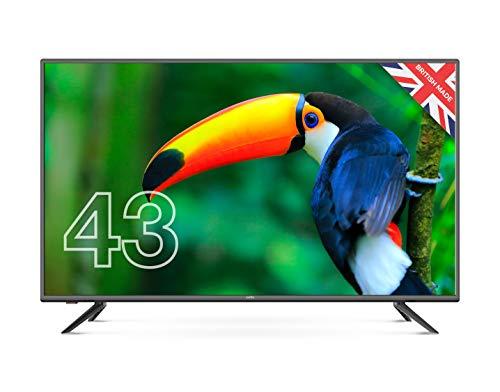 Cello C4320DVB/ZBVD023 Full HD LED-Fernseher mit eingebautem Freeview HD 2020 Modell, Schwarz, 109,2 cm