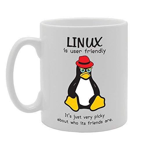N\A Linux ist benutzerfreundlich Es ist nur sehr wählerisch, wer Seine Freunde sind Neuheit Geschenk Keramik Tee Kaffeebecher