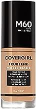 Covergirl Trublend Matte Made Liquid Foundation, M60 Natural Beige, 1 fl oz (Pack of 2)