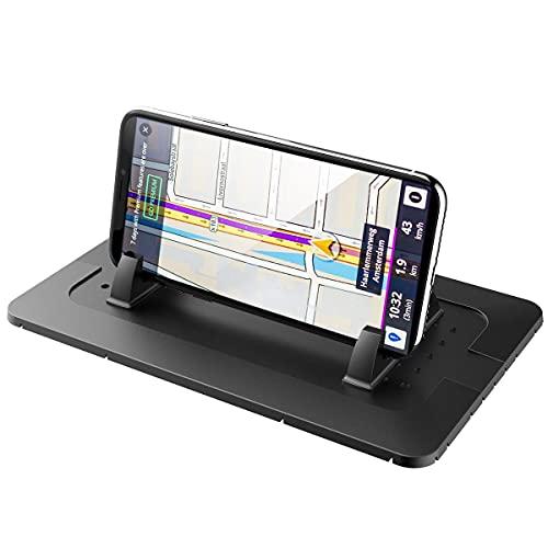 UTOBY Soporte para teléfono móvil para coche, alfombrilla antideslizante, alfombrilla adhesiva para salpicadero, soporte para gafas, soporte para teléfono móvil