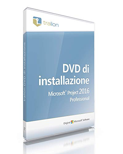 Microsoft® Project 2016 Professional - incluso DVD Tralion, inclusi documenti di licenza, audit-sicuro