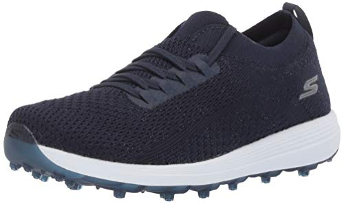 Skechers Women's Max Golf Shoe, Navy/White Knit, 8 M US
