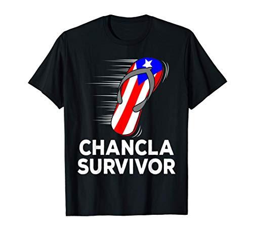 Chancla Survivor Puerto Rico Funny Spanish Joke Gift Idea T-Shirt