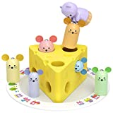 MHMYDIS Magnetic Wooden Rescue Cheese Game Toy for Toddlers - Cat Catch Mouse Matching Puzzle...