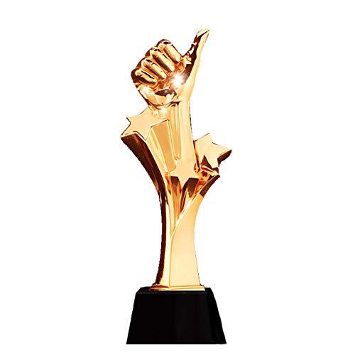 NQO Trofeo de Campeones Trofeo de Competición, Trofeo Multideportivo, Cinco estrellas de oro trofeo de los pulgares premios Danza Deportes Grabado Gratis Trofeo para Niños